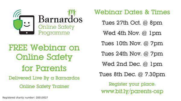 Barnardos On-line Safety Workshops for Parents